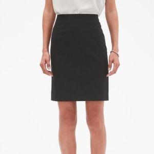Banana Republic  8 Tall Black Bi-Stretch Skirt